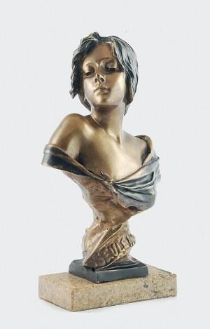 """Emmanuel VILLANIS (1858-1914), Seule!"""" - popiersie kobiece"""
