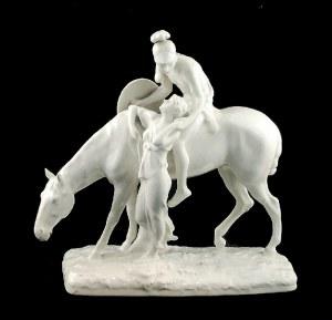 Albin Döbrich (1872-1945), model z ok. 1905 r, Grupa figuralna: Jeździec i dziewczyna