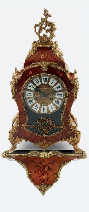 Uhrenfabrik FRANZ HERMLE & SOHN (zał. w 1922), Zegar z konsolą, neorokokowy, intarsjowany