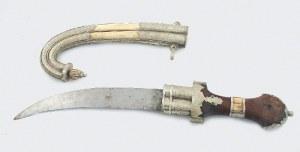 Dżambia - nóż wschodni, w ozdobnej, ceremonialnej pochwie