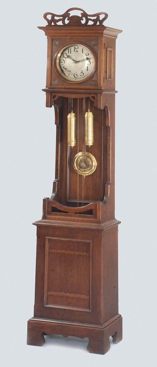 Zegar szafowy, podłogowy w stylu secesyjnym