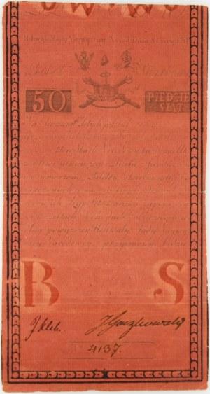 Insurekcja Kościuszkowska, 50 złotych 8.06.1794, seria A