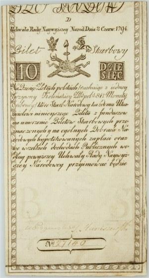 Insurekcja Kościuszkowska, 10 złotych 8.06.1794, seria D