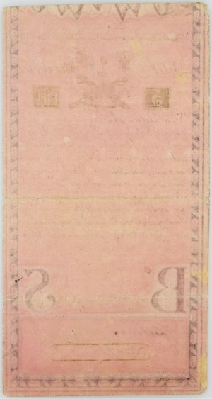 Insurekcja Kościuszkowska, 5 złotych 8.06.1794, seria N.A1.