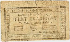 Insurekcja Kościuszkowska, 4 złote 04.09.1794, Seria 1-B