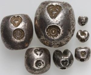 Tajlandia, Rama IV, 1851-1868, zestaw 7 monet od 1/16 do 4 bahtów