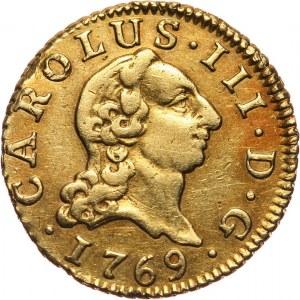 Hiszpania, Karol III, 1/2 escudo 1769 PJ, Madryt