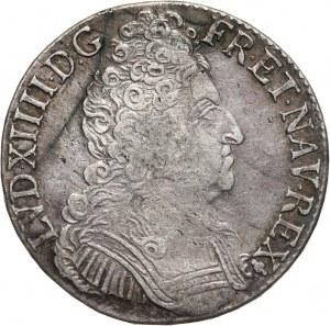 Francja, Ludwik XIV, ecu 1710 S, Reims