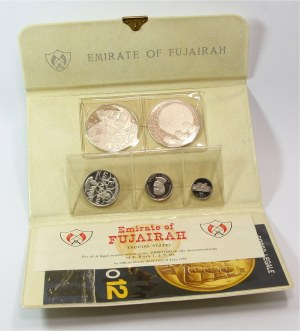 Fujairah, zestaw 5 monet z 1969/70 roku