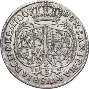 August II Mocny, 2/3 talara (gulden) 1700 ILH, Drezno