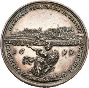 August II Mocny, medal z 1699 roku, Zdobycie Kamieńca Podolskiego