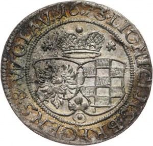 Śląsk, Księstwo Legnicko-Brzesko-Wołowskie, Ludwika, 3 krajcary 1673 CB, Brzeg