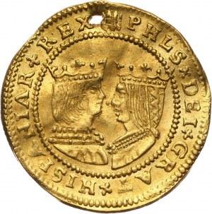 Niderlandy, Fryzja Zachodnia, Ferdynand i Izabela, 2 dukaty bez daty (ok. 1600), Zwolle