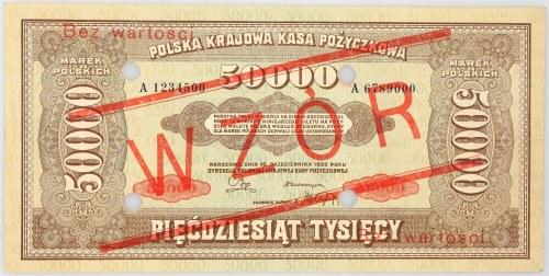 II RP, 50.000 marek polskich 10.10.1922, seria A