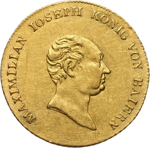 Niemcy, Bawaria, Maksymilian I Józef, dukat 1823, Monachium