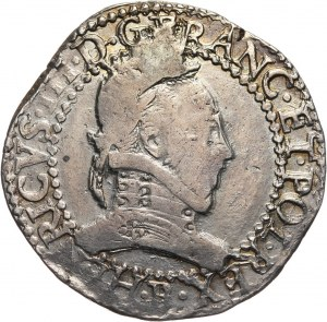 Henryk Walezy, frank 1578 B, Rouen