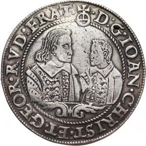 Śląsk, Księstwo Legnicko-Brzesko-Wołowskie, Jan Krystian Brzeski i Jerzy Rudolf Legnicki, talar 1607, Brzeg