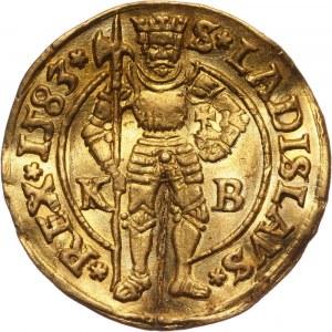 Węgry, Rudolf II, dukat 1583 KB, Kremnica