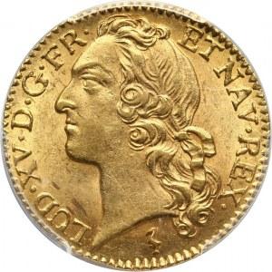 Francja, Ludwik XV, louis d'or 1745 W, Lille