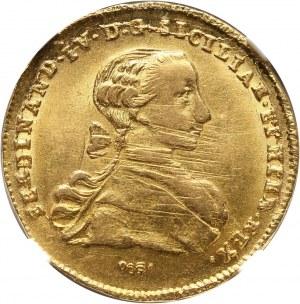 Włochy, Neapol i Sycylia, Ferdynand IV, 6 ducati 1767