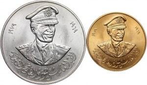 Libia, zestaw dwóch medali z 1979 roku, 10 rocznica Rewolucji libijskiej