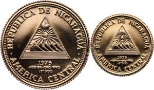 Nikaragua, zestaw monet 200 i 500 cordobas 1975