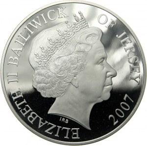 Wielka Brytania, Jersey, Elżbieta II, 10 funtów 2007, Diamentowe Gody