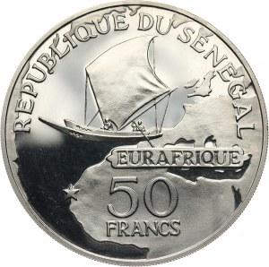 Senegal, 50 franków 1975, Leopold Sedar Senghor