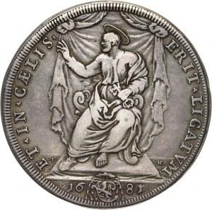 Watykan, Innocenty XI, piastra 1681, Rzym