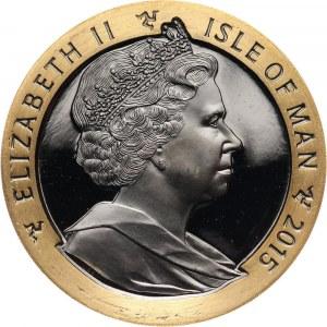 Wielka Brytania, Wyspa Man, Elżbieta II, crown 2015, 175 rocznica powstania