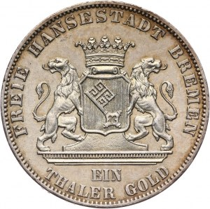 Niemcy, Brema, talar 1865 B, Hanower