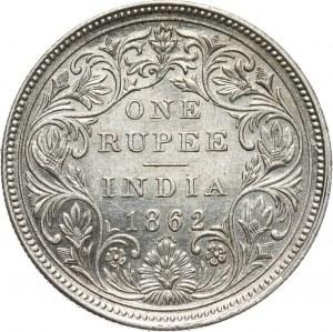 British India, Victoria, Rupee 1862