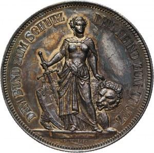 Szwajcaria, 5 franków (talar strzelecki) 1885, Berno