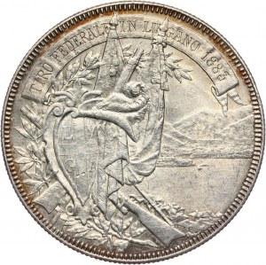 Szwajcaria, 5 franków (talar strzelecki) 1883, Lugano