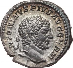 Cesarstwo Rzymskie, Karakalla 198-217, denar, Rzym