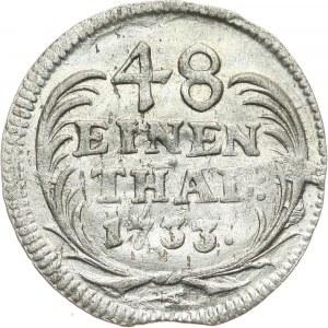 August II Mocny, 1/48 talara 1733 IGS, Drezno