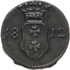 Wolne Miasto Gdańsk, szeląg 1812 M, Gdańsk