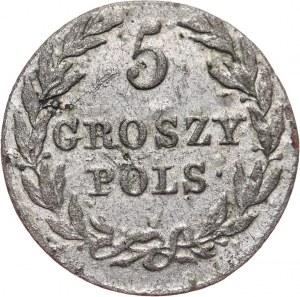 Królestwo Kongresowe, Aleksander I, 5 groszy 1816 IB, Warszawa