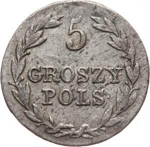 Królestwo Kongresowe, Mikołaj I, 5 groszy 1830 FH, Warszawa