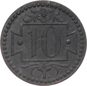 Wolne Miasto Gdańsk, 10 fenigów 1920, Gdańsk, małe cyfry, 56 perełek