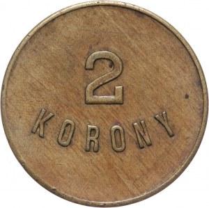 Monety zastępcze, Lwów, Towarzystwo Spożywcze Urzędników i Służby C.K. Kolei Państwowej, 2 korony