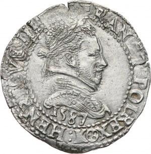 Henryk Walezy, 1/2 franka 1587 K, Bordeaux