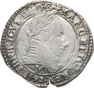 Henryk Walezy, 1/2 franka 1592 M, Tuluza