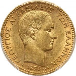 Grecja, Jerzy I, 20 drachm 1876 A, Paryż