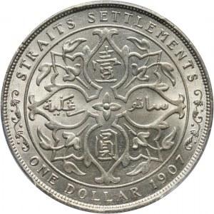 Straits Settlements, Edward VII, dollar 1907