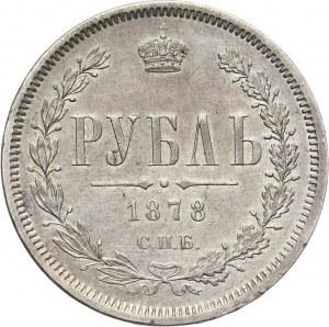 Russia, Alexander II, Rouble 1878 СПБ НФ, St. Petersburg