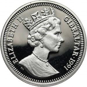 Gibraltar, Elżbieta II, 1/5 korony 1991, Olimpiada w Barcelonie