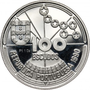 Portugalia, 100 escudos 1990, Astronawigacja