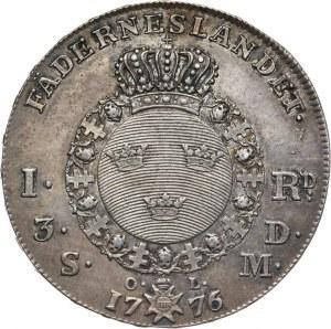 Szwecja, Gustaw III, riksdaler 1776, Sztokholm
