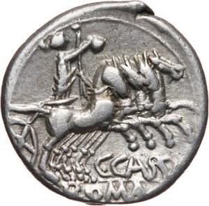 Republika Rzymska, C. Cassius Longinus 126 p.n.e., denar, Rzym